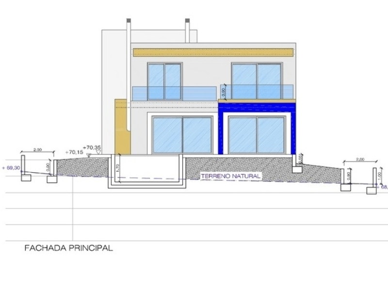 Casa moderna y de primera calidad en Javea en construcción.